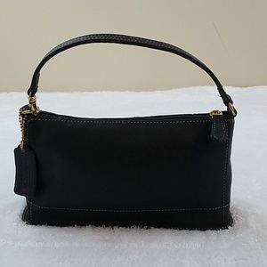 Coach Vintage Black Leather Mini Bleeker Bag